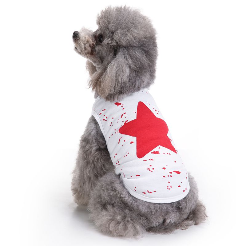 Vest Dog Puppy Clothes Polyester Lovely Star Summer Shirts Pet Dog Vest Simple Comfortable Clothes