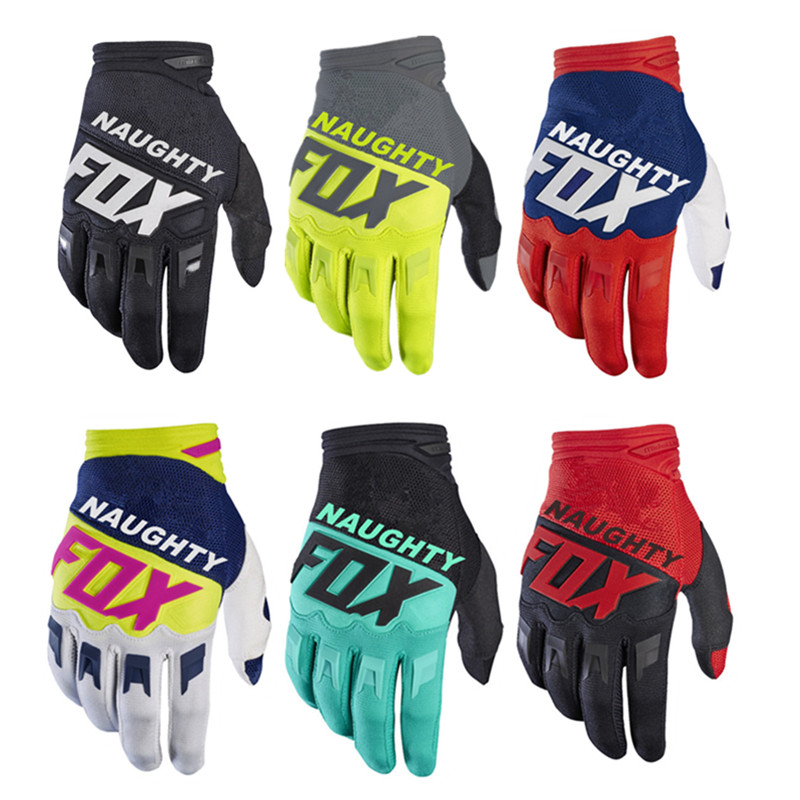 2018 NAUGHTY FOX MX Racing Motocross Full Finger Riding Gloves Summer Brethable Luva Bicycle Cycling MTB Gloves