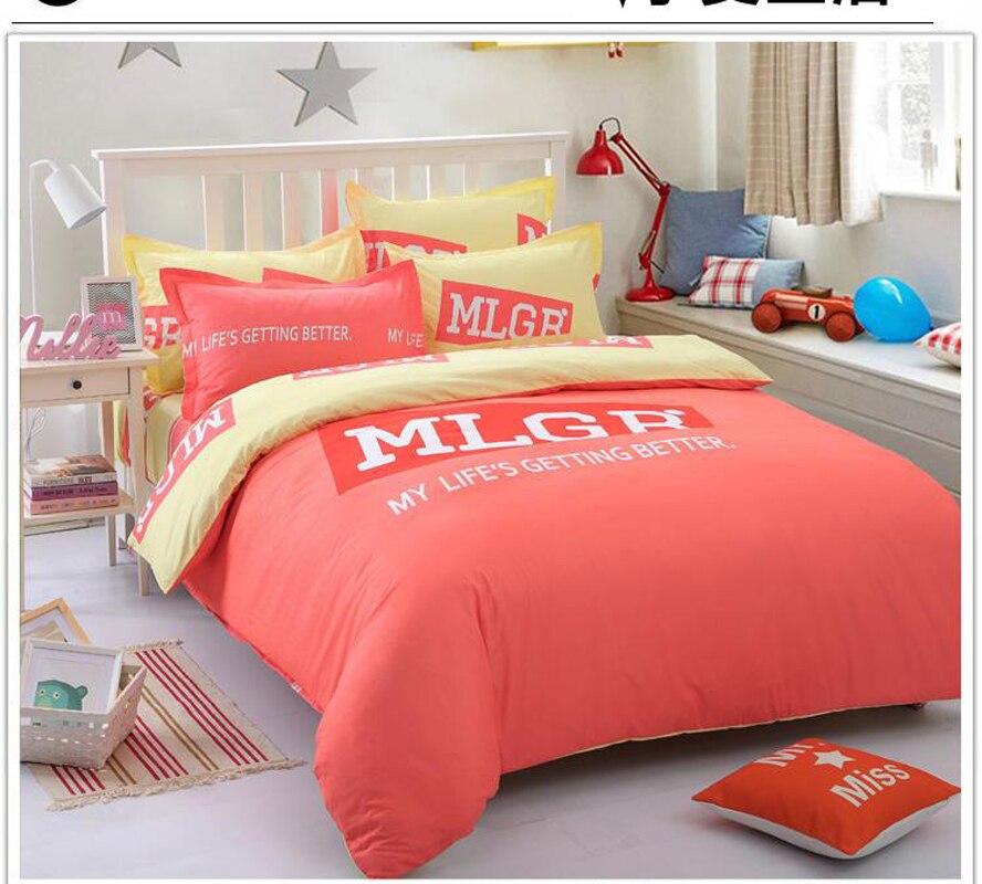 Sexy en forme de coeur impression ensembles linge de lit couette draps de couverture 4 pc lits jumeaux pleine reine roi décor de chambre à coucher draps tissé 29 style