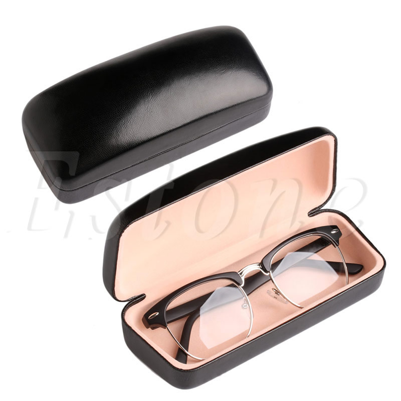 Men's Glasses 2017 Black Eye Glasses Sunglasses Hard Case Portable Holder Protector Box Clamp Shell Mar18_15