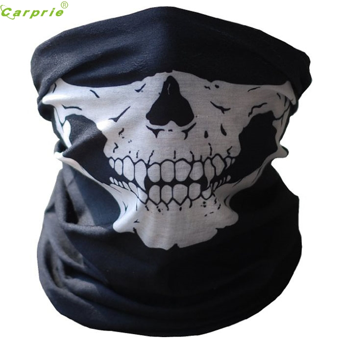 Cls Bicycle Ski Skull Half Face Mask Ghost Scarf Multi Use Neck Warmer COD SZ0217*10