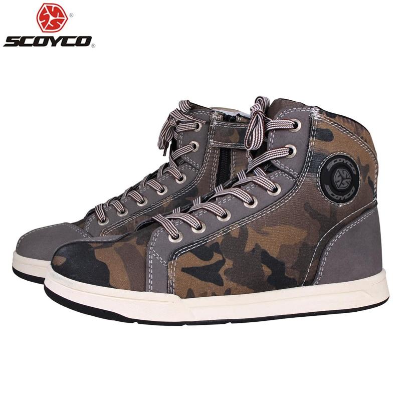 SCOYCO Motorcycle Boots Men 5 colors Casual Fashion Wear Shoes Breathable Anti-skid Protection Gear Botas De Motociclista,T-016