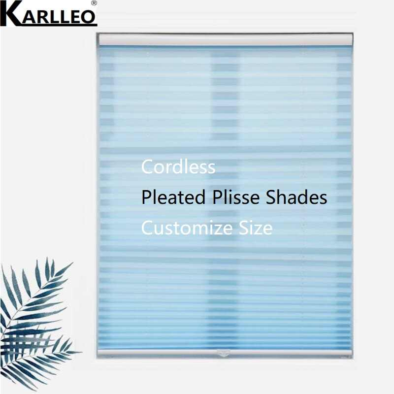 Cordless Pleated Plisse Blinds Shades Curtain Customize Size Finished Product