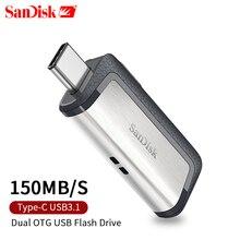 Карта памяти Micro SD OTG USB флэш-накопитель SDDDC2 32 GB 64 GB 128 GB 150MBS type-C USB3.1 двойной OTG флеш-ролики USB