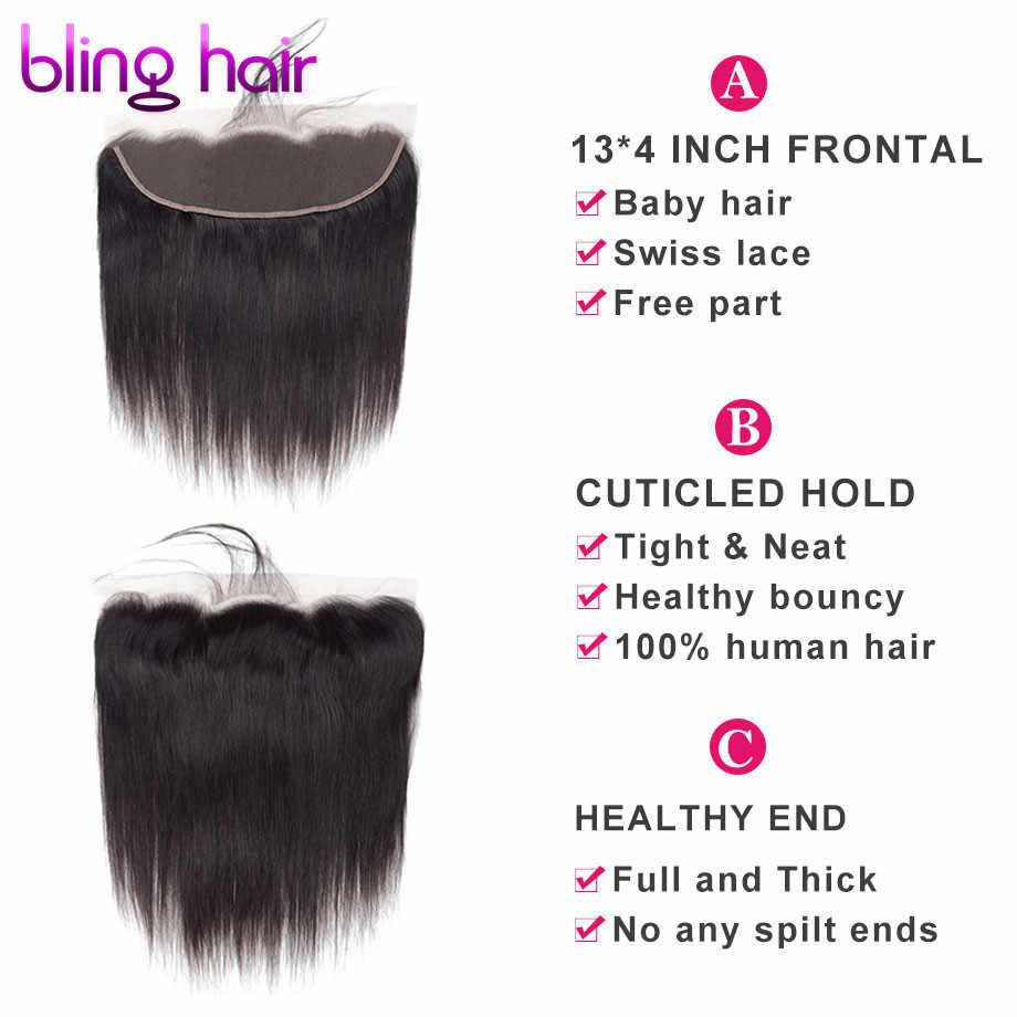 Шикарные волосы прямые кружевные фронтальные бразильские волосы с закрытием 13*4 средний/свободный/три части Remy человеческие волосы 1b/613 Блонд натуральный цвет