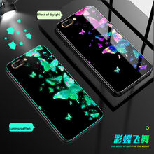 Luminous Glass Case For Huawei P30 P20 mate 20 pro Back Cover For Honor 20 pro V20 10 play 7X 9 Lite 8X 9X pro phone case coque(China)