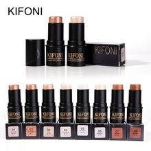 KIFONI макияж бронзер и хайлайтер палочка 8 цветов 3D контур макияж консилер ручка для лица водостойкая светящаяся осветляющая палочка космети...