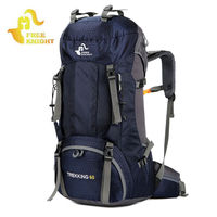 60L Outdoor Sports Backpack Camping Mountaineering Backpacks Men Women Hunting Hiking Travel Rucksack With Rain cover XA170WA