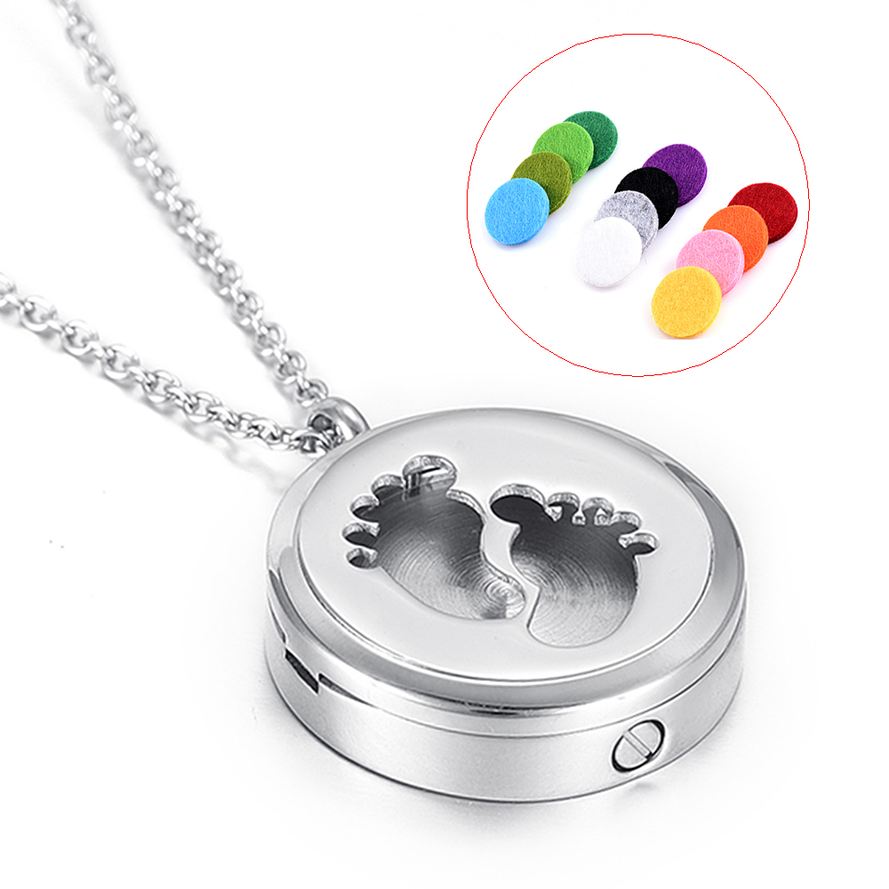 Baby Foot Combination stytle Jewelry Memorial Ashes keepsake Essential Oil Diffuser Pend ...