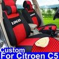 Assentos cobrir assento de carro personalizado cobre apto para citroen c5 acessórios auto peças do carro sanduíche capas para assentos de carro com encosto de cabeça