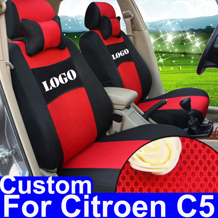 Black cover seat fit for citroen c5 seat covers auto accessories sets sandwich car seat cover for car seats custom car protector