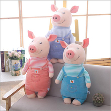 купить New Style Cute Wearing Clothe Pig Short Plush Toys Stuffed Animal Pig Doll Toy Soft Plush Pillow Children Gift по цене 1638.7 рублей