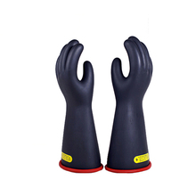 Купить с кэшбэком 1 Pair Anti-electricity Protect Professional 20kv High Voltage Electrical Insulating Gloves Rubber Electrician Safety Glove 40cm