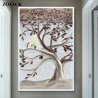 New Love tree Lovebirds 11CT DIY DMC Counted printed chinese Cross Stitch landscape Cross Stitch Kits for Embroidery Needlework