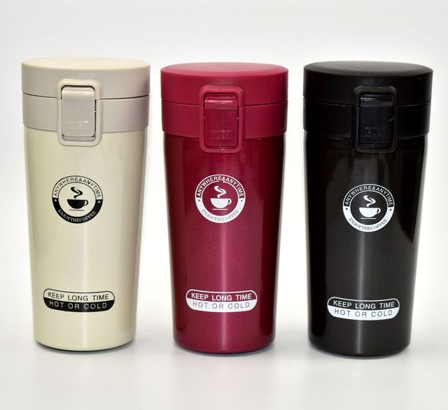 3ad7b2d06896 US $10.13 40% OFF|HOT Premium Travel Coffee Mug Stainless Steel Thermos  Tumbler Cups Vacuum Flask thermo Water Bottle Tea Mug Thermocup-in Vacuum  ...