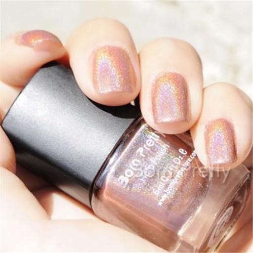 1 Bottle 6ml Born Pretty Holographic Holo Glitter Nail Polish Varnish Hologram Effect Polish BP Nail Decoration 6#