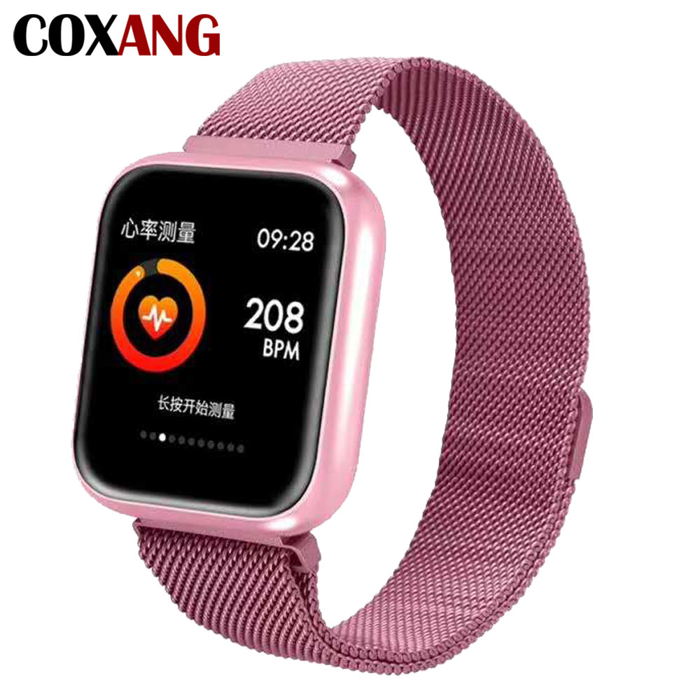 COXANG P70 Frauen Smart Uhr Blutdruck Herz Rate Monitor Schrittzähler 1,3 zoll Farbe Bildschirm Smartwatch Für Apple IOS Android-in Smart Watches aus Verbraucherelektronik bei  Gruppe 1
