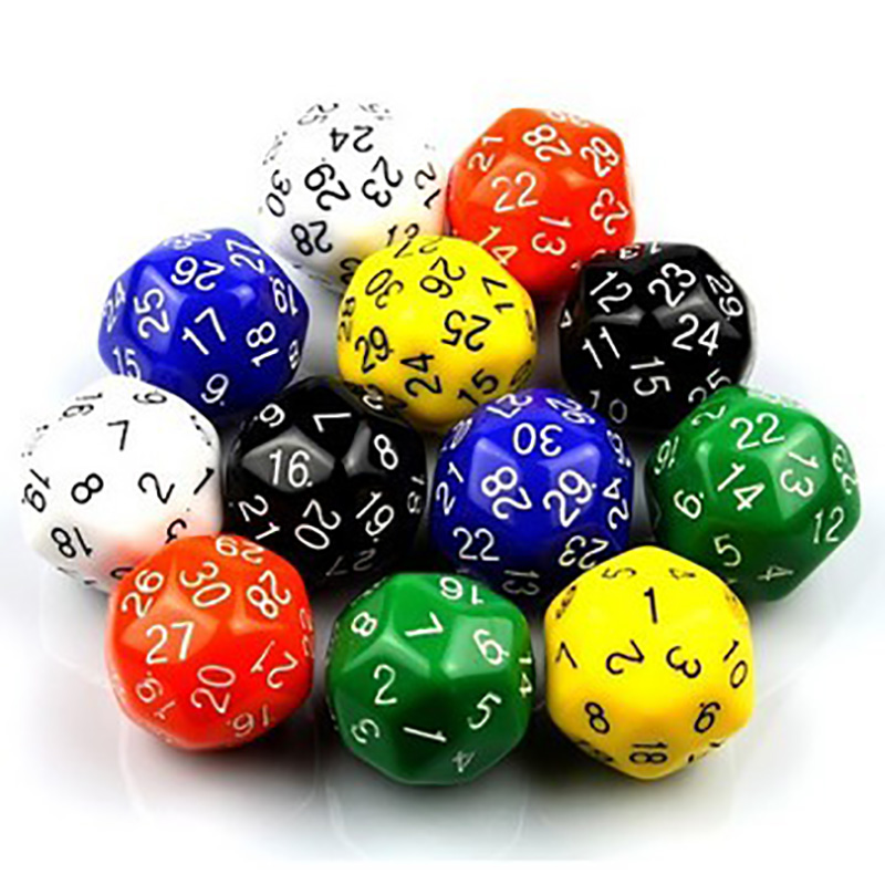 10PCS , Digital Dice Puzzle Game Send Children ,30 Sided Die RPG D&D With Free Shipping