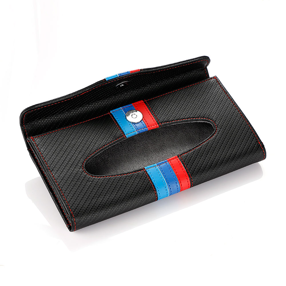 New Arrival Car Organizer Bag Car Storage Sun Visor Tissue Box Truck Clipper Organizer Bag Paper Napkin Holder For BMW VW Toyota