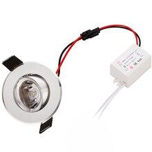 4 pz/lotto miglior prezzo 1W 3W mini ad alta potenza Da Incasso Led Luci Da Incasso AC85v  260v 110 330LM con LED Driver di Alta Qualità