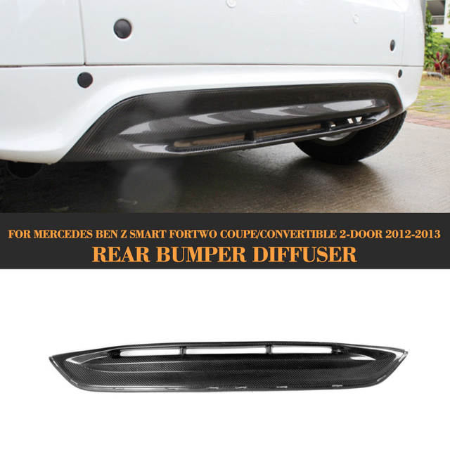 b06a81d38 US $116.05 13% OFF|Carbon Fiber Rear Bumper Diffuser Lip Spoiler for  Mercedes Benz Smart Fortwo Coupe 10 13 Convertible Car Styling-in Bumpers  from ...