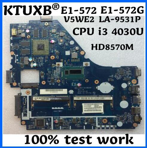KTUXB NBV9E11001 NB V9E11 001 V5WE2 LA 9531P for ACER E1 572 E1 572G notebook motherboard