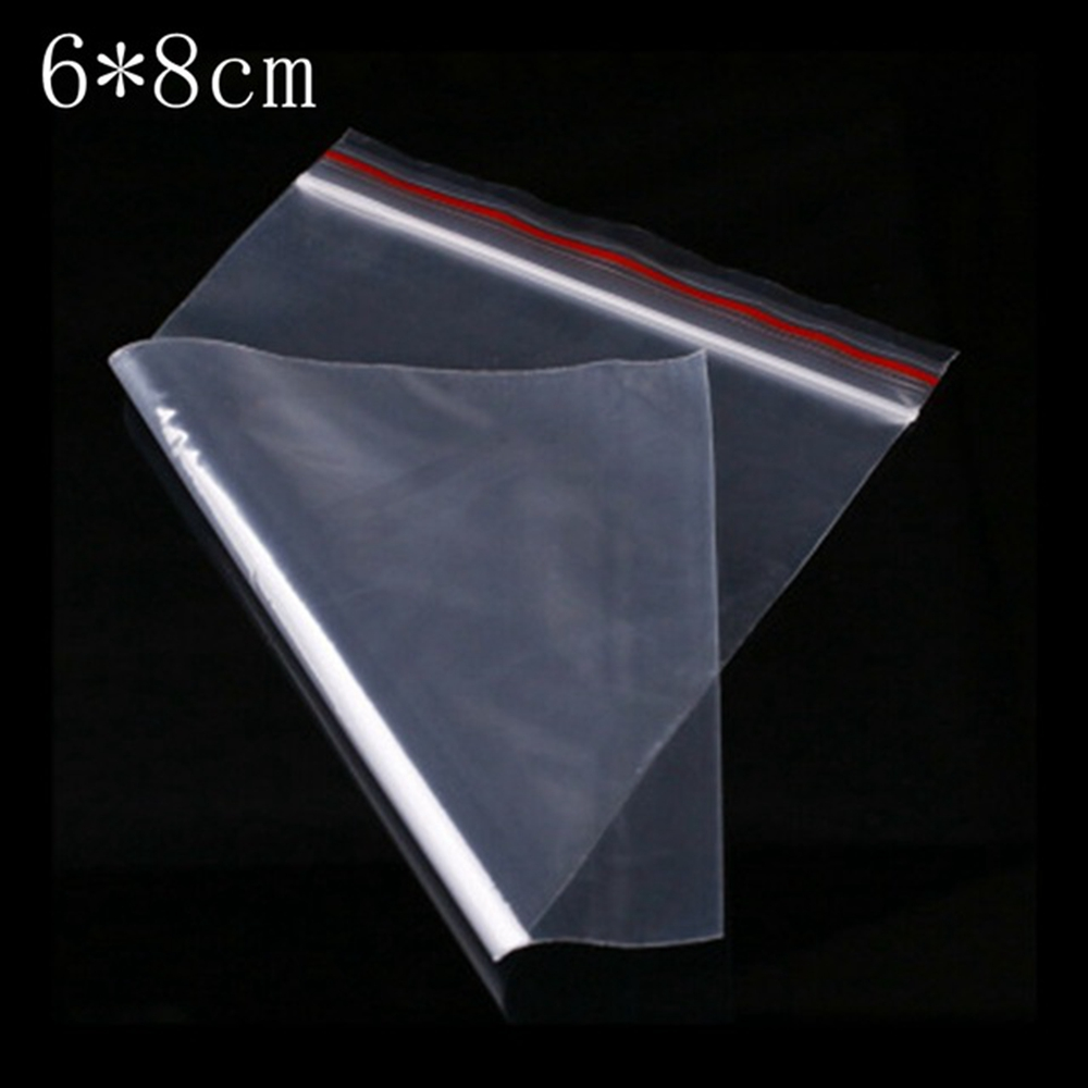100Pcs/Lot 6*8CM Zip Lock Bags Clear Poly Bag Reclosable Plastic Smaller Baggies Gift Candy Package Gifts Bags/Pouches