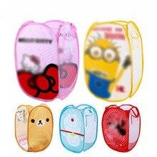 Миньоны Hello And Kitty складной грязной одежды ведро для белья корзина для хранения детские игрушки ботинки органайзер для хранения мелочей