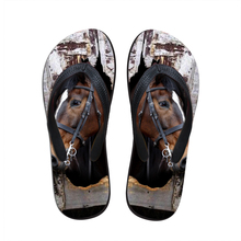 Noisydesings New Women Casual Flip flops Cute Horse Pattern Жазғы жұмсақ резеңке жағажай сабын Ladies Flats Flip Flops
