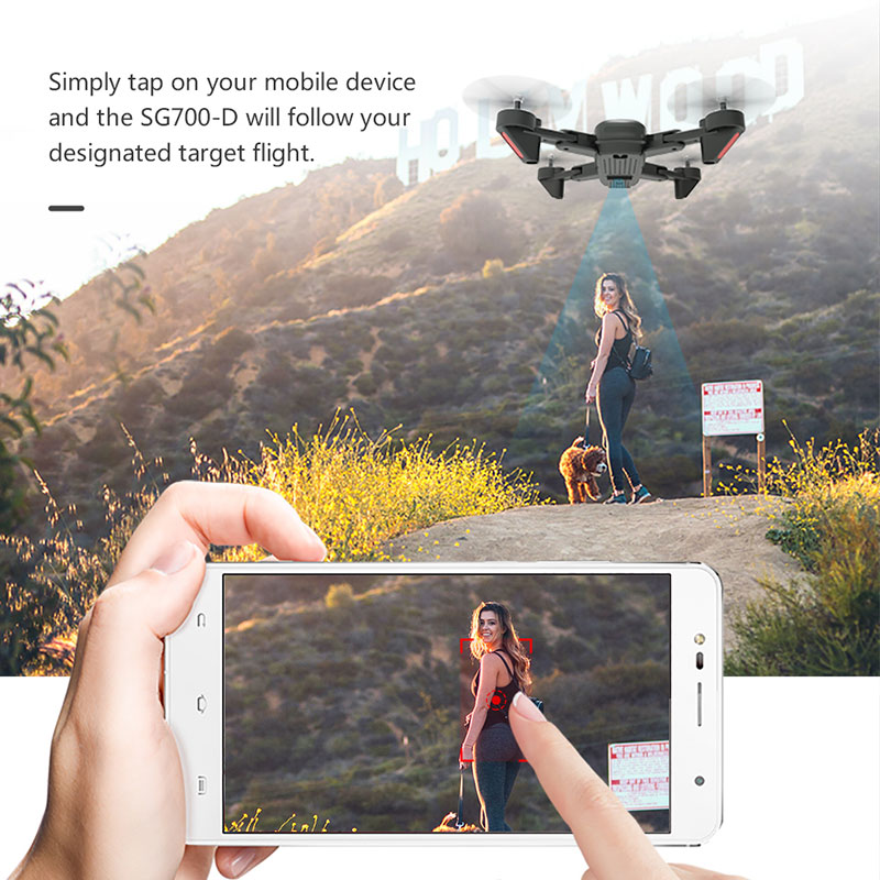 SG700 ulepszony składany RC 4K Drone Profissional WIFI FPV podwójna kamera drona śledź tryb kontrola aplikacji Quadcopter na prezent zabawka Dron