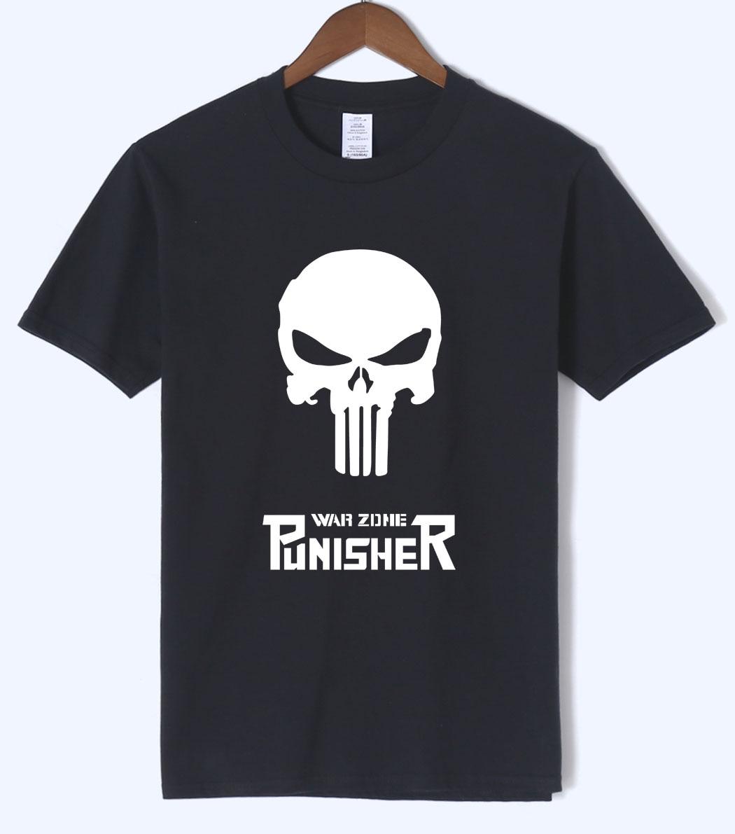 Superman Punisher Skull Hip Hop Men T Shirt 2018 Summer New Arrival Funny Mens T Shirts 100% Cotton Short Sleeve O-neck T-Shirts