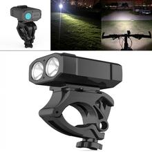 Bicycle Riding Light LED Flashlight USB Rechargeable with 360 Degree Rotation Bracket and 5 Modes for Bike Headlight