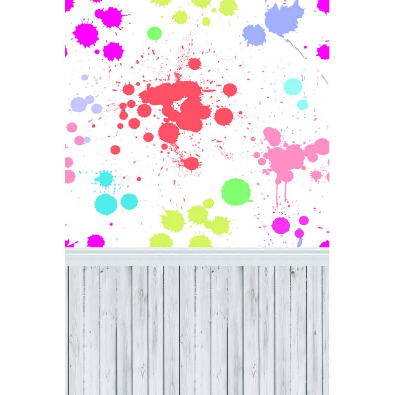 Colorful ink drops photo studio backgrounds vinyl cloth print photographic backdrops with floor for kids portrait F-295 215cm 150cm backgrounds blossom petals colorful colorful floral scent the air tricks slim co photography backdrops photo lk 1135
