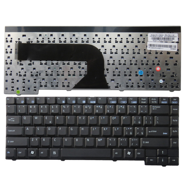 CZ New  Keyboard FOR ASUS X50N X50R X50RL X50Z X50VL X50SL X50V X50VL X50Z X51C X51H X51 Z94 laptop keyboard BLACK