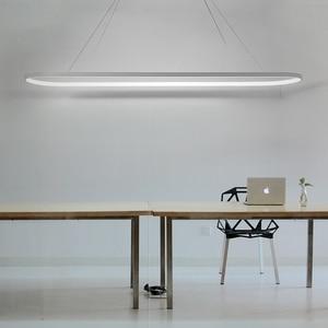 Image 2 - Chiều Dài 700/900/1200 Mm LED Hiện Đại Giá Treo Đèn Ăn Phòng Bếp Độ Sáng Cao Treo Đèn Led Mặt Dây Chuyền đèn