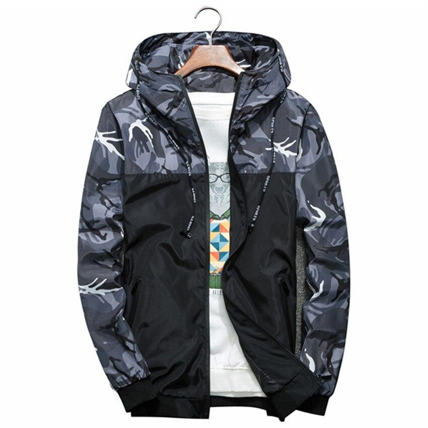 2018 Autumn New Fashion Brand Men Windbreaker Jacket Mens Hooded Casual Jackets Male Jacket Coat Thin Men Joint Coat Outwear