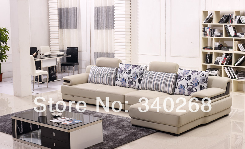 New Arrival Modern Style Leather Sofa With Cushions L Shape Lounge