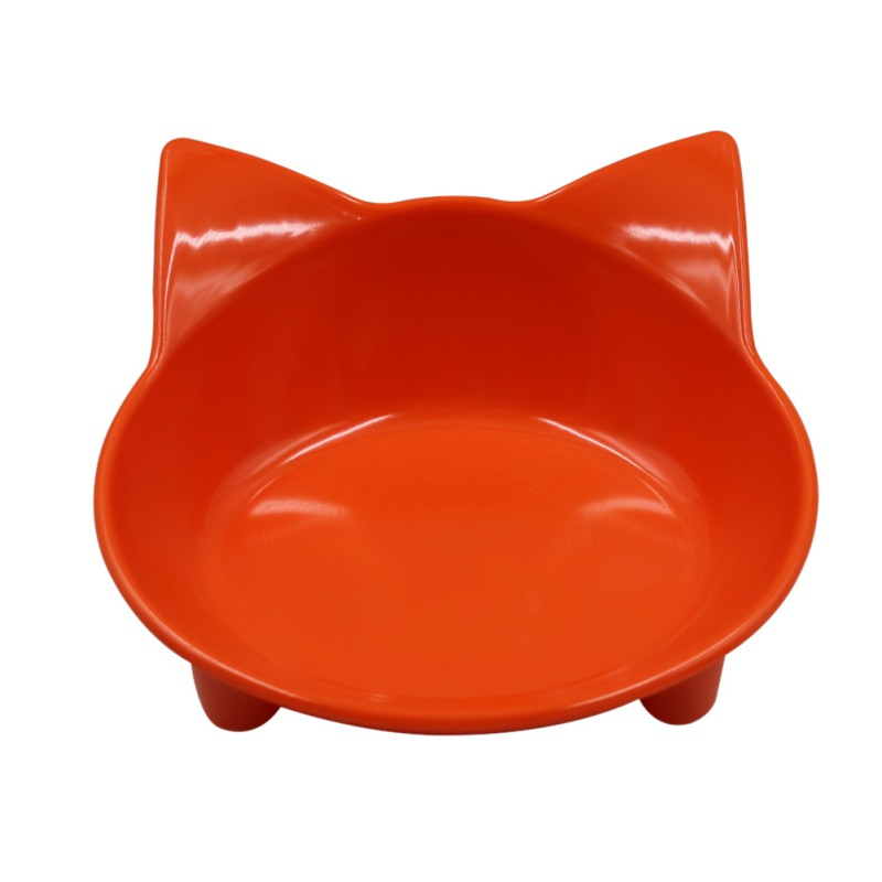 Pet Feeder Cat Face Shape Anti Slip Bowl Puppy Kitten Food Water Dish Pet Tableware Feeding Tool Environmental Protection