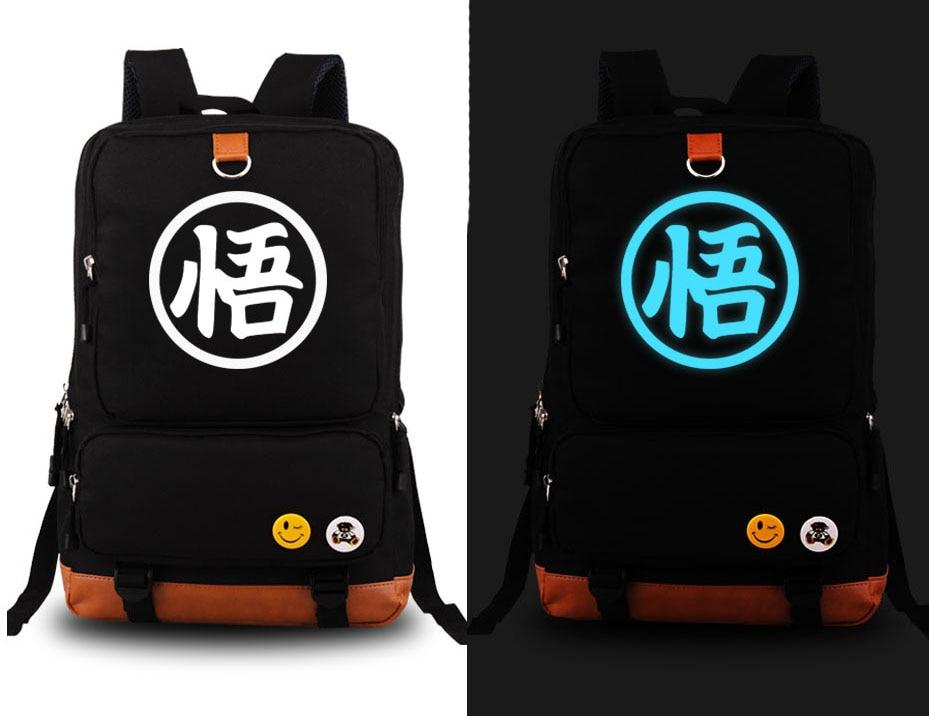 hot anime dragonball z son goku cosplay backpack dragon ball kakarotto canvas student schoolbag unisex travel