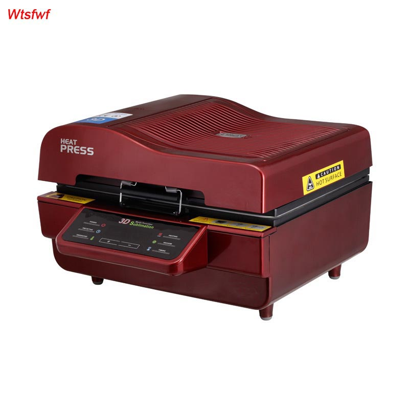 Wtsfwf ST-3042 3D Sublimation Heat Press Printer 3D Vacuum Heat Press Printer Machine Printing for Cases Mugs Plates Glasses