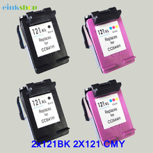 4 pk Black & Color ink Cartridges For HP 121XL Deskjet All In One: F2423, F2430, F2476, F2480, F2483, F2488