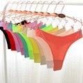 Alta qualidade de verão cueca sem costura Ultra fino Calcinhas G corda tanga mulheres Calcinhas Inmitimates 050