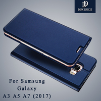 Dux Ducis Brand Leather Flip Case For Samsung Galaxy A3 A5 A7 2017 Case Wallet Phone