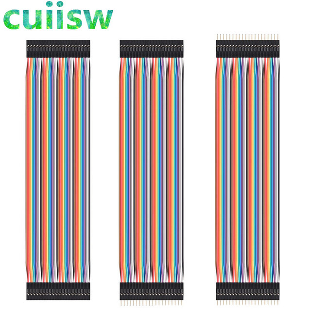 120pcs 30cm male to male + male to female and female to female DuPont cable line Jumper Connector Breadboard For arduino kit