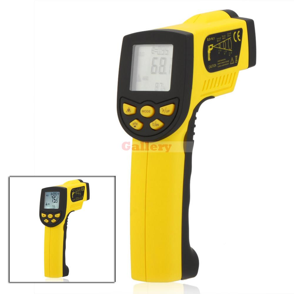 Holdpeak Hp-1300 Non Contact 16 1 Digital Infrared Ir Thermometer Laser Temperature Gun Sensor Meter Range 50 1300 holdpeak hp 1320 digital laser infrared ir thermometer gun meter non contact 50 1320c 58 2480f temperature tester pyrometer