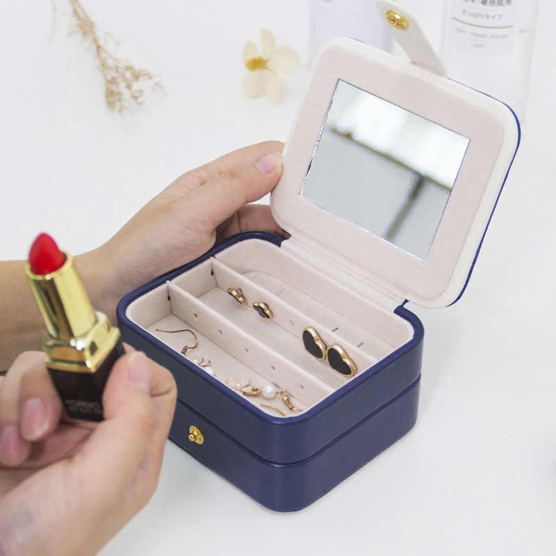 נייד עור תצוגת טבעת מארגן נסיעות נשים מקרה רוכסן צמיד תכשיטי תיבת שרשראות עגיל אחסון