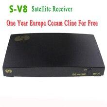 Original V8 S-V8 DVB-S2 HD Por Satélite Receptor + 1 Año europa cline Servidor Cccam NEWcam MGcam Apoyo USB WiFi WebTV Youporn