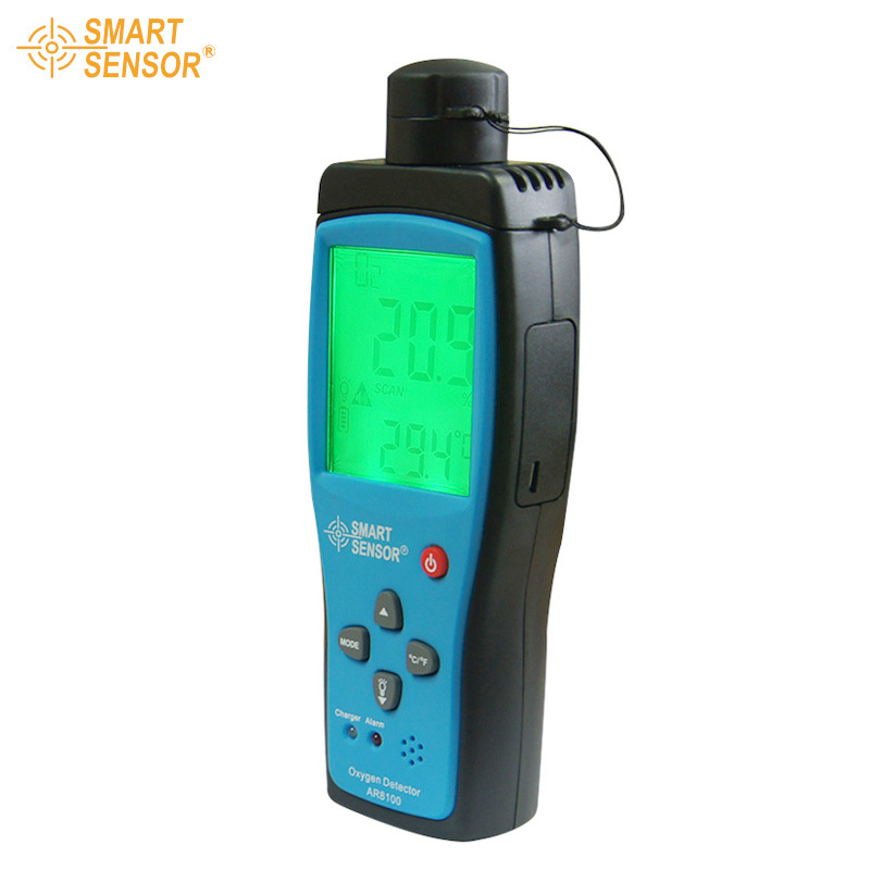 With Box Smart sensor oxygen gas analyzer O2 concentration measuring range 0 30% detector tester AR8100 Free shipping