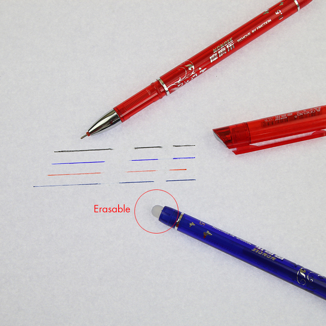 1 Pcs Erasable Gel Pen Refills Is Red Blue Ink Blue And Black A Magical Writing Neutral Pen