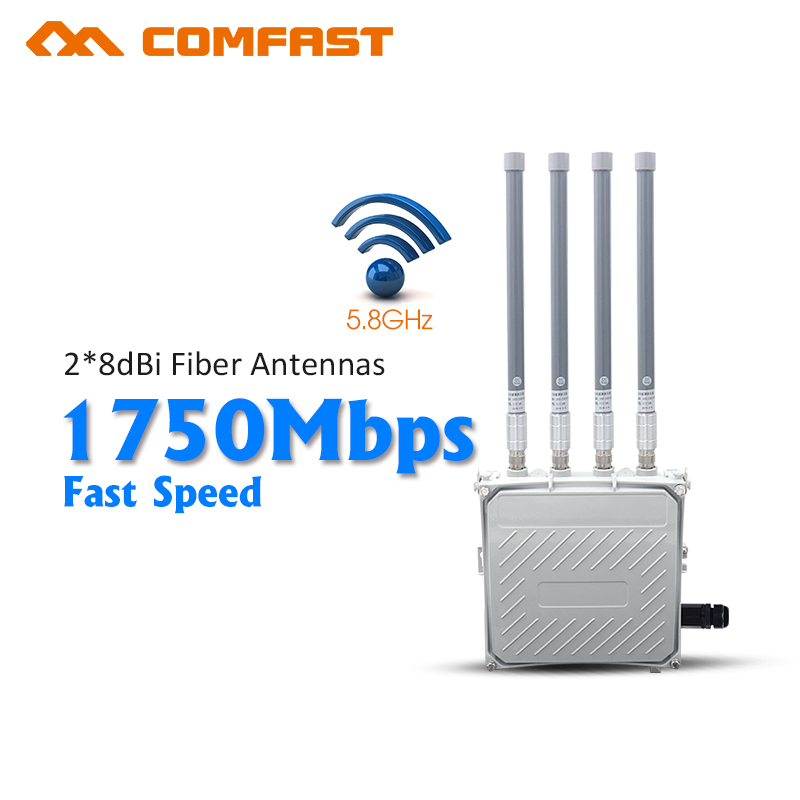 5GHz&2.4G CPE 1750M Dual Band Wireless AP bridge 4*8Dbi Antenna outdoor WIFI Router WIFI Access Point With 48V POE Adapter outdoor cpe 5 8g wifi router 200mw 1 3km 300mbps wireless access point cpe wifi router with 48v poe adapter wifi bridge cf e312a